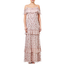 Buy Adrianna Papell Beaded Long Dress, Blush Online at johnlewis.com