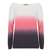 Buy Mint Velvet Ombre Cotton Slub Knit Jumper, Multi Online at johnlewis.com