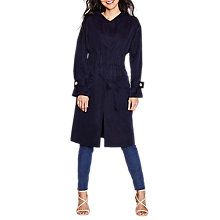 Buy Yumi Ruched Trench Coat, Dark Navy Online at johnlewis.com