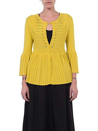 French Connection Laila Cardigan, Dark Citron