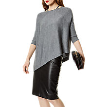 Buy Karen Millen Strappy Poncho Jumper, Grey Online at johnlewis.com