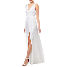 Buy Adrianna Papell Stripe Lace Bridal Dress, Ivory Online at johnlewis.com