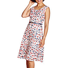 Buy Yumi Striped Floral Dress, White/Multi Online at johnlewis.com