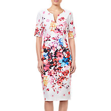 Buy Adrianna Papell Petite Spring Bloom Dress, Ivory/Multi Online at johnlewis.com