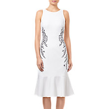 Buy adrianna Papell Petite Knit Embroidered Dress, Ivory Online at johnlewis.com