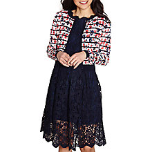 Buy Yumi Striped Floral Cardigan, White Multi Online at johnlewis.com