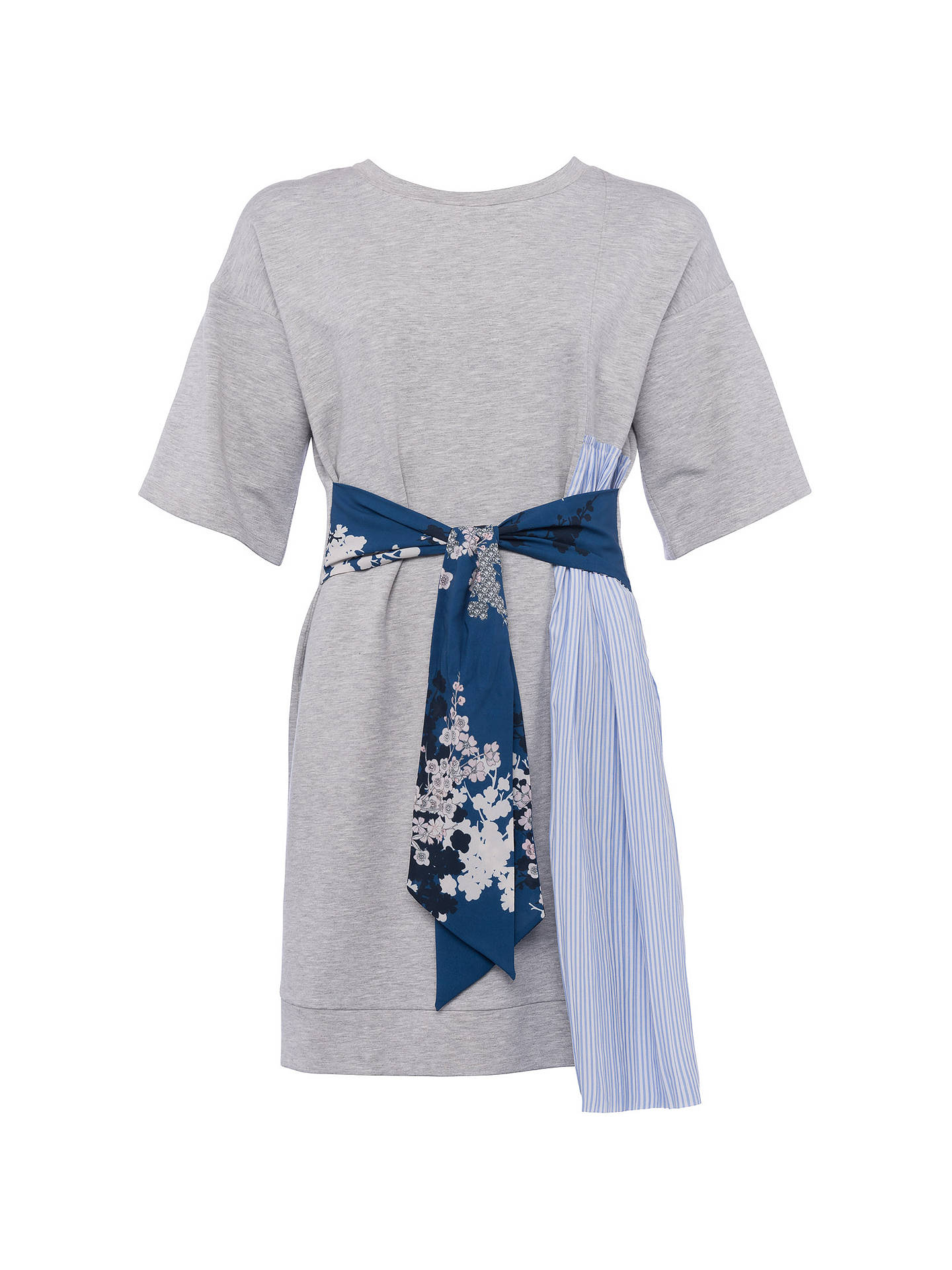 68af3e8785d22d ... Buy French Connection Ono Tie Jersey Dress, Light Grey Marl/Multi, 6  Online ...