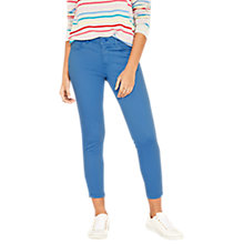 Buy Oasis Isabella Skinny Cropped Jeans, Mid Blue Online at johnlewis.com