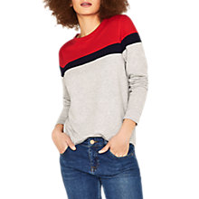 Buy Oasis Colour Block Sweatshirt, Multi Online at johnlewis.com