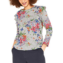 Buy Oasis Davina Top, Multi/Grey Online at johnlewis.com