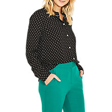 Buy Oasis Geo Heart Shirt, Multi/Black Online at johnlewis.com