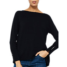 Buy Mint Velvet Tie Back Layer Jumper, Navy Online at johnlewis.com