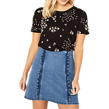 Buy Oasis Ditsy Print Top, Multi Online at johnlewis.com