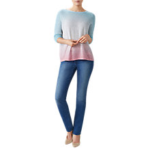 Buy Pure Collection Dip Dye Gassato Cashmere Jumper, Multi Online at johnlewis.com