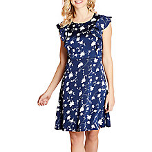 Buy Yumi Floral Skater Dress, Navy Online at johnlewis.com