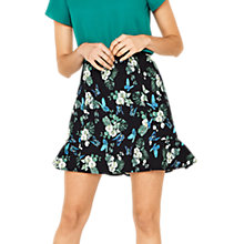 Buy Oasis Orchid Print Flippy Skirt, Multi Online at johnlewis.com