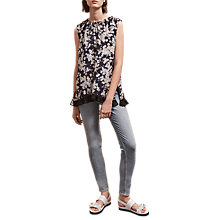 Buy French Connection Rishiri Crepe Top, Nocturnal/Multi Online at johnlewis.com