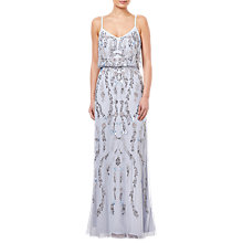 Buy Adrianna Papell Serenity Beaded Dress, Multi Online at johnlewis.com