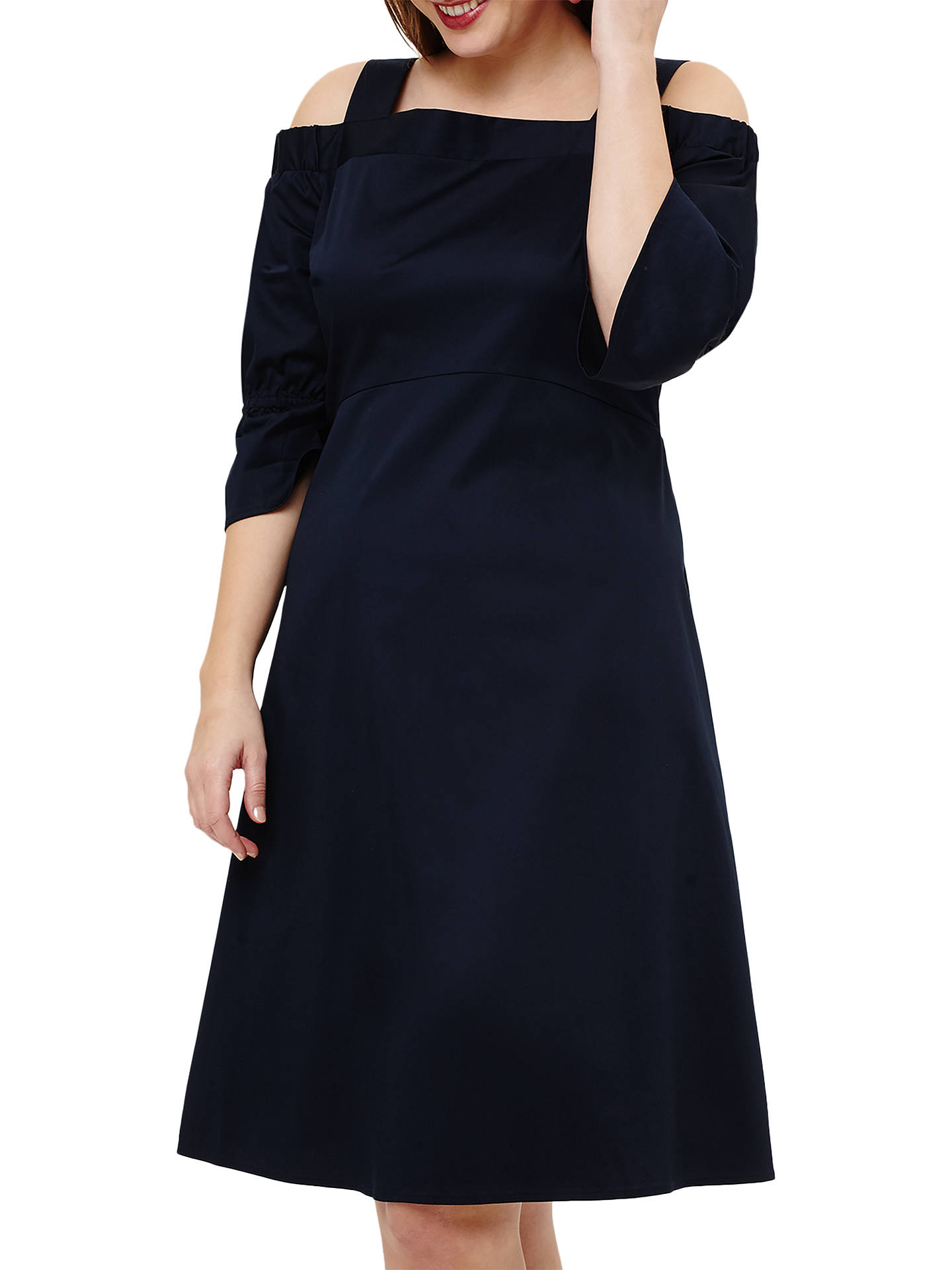 BuyStudio 8 Giana Cold Shoulder Dress, Navy, 12 Online at johnlewis.com