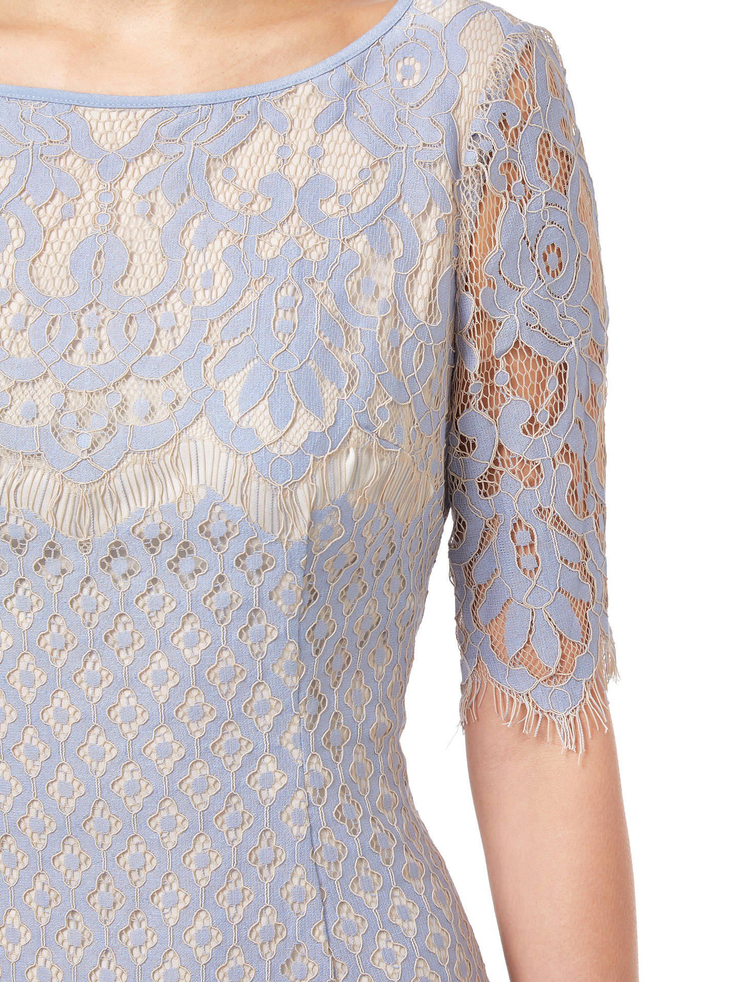Buy Adrianna Papell Georgia Lace Dress, Multi, 8 Online at johnlewis.com