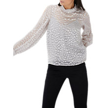 Buy Coast Lyra Animal Top, Silver Online at johnlewis.com