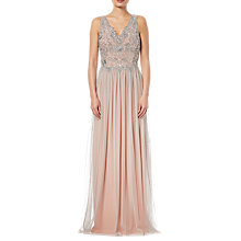 Buy Adrianna Papell Beaded Bridesmaid Dress,Silver/Nude Online at johnlewis.com