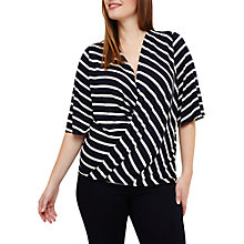 Buy Studio 8 Willa Wrap Stripe Top, Navy/White Online at johnlewis.com