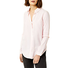 Buy Warehouse Stripe Smock Sleeve Shirt, Pink Online at johnlewis.com