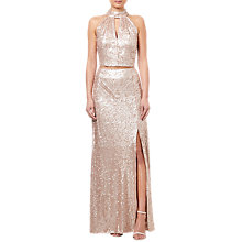 Buy Adrianna Papell Two Piece Dress, Nude Online at johnlewis.com