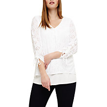 Buy Studio 8 Penny Textured Top, White Online at johnlewis.com