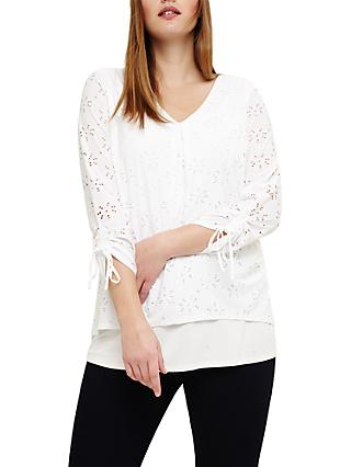 Studio 8 Penny Textured Top, White