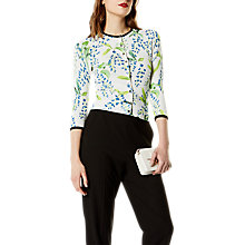 Buy Karen Millen Wisteria Floral Print Cardigan, White/Multi Online at johnlewis.com