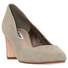 Buy Dune Addena Block Heel Court Shoes, Taupe Online at johnlewis.com
