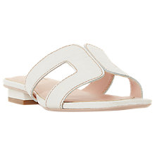 Buy Dune Loupe Slip-On Sandals, White Online at johnlewis.com