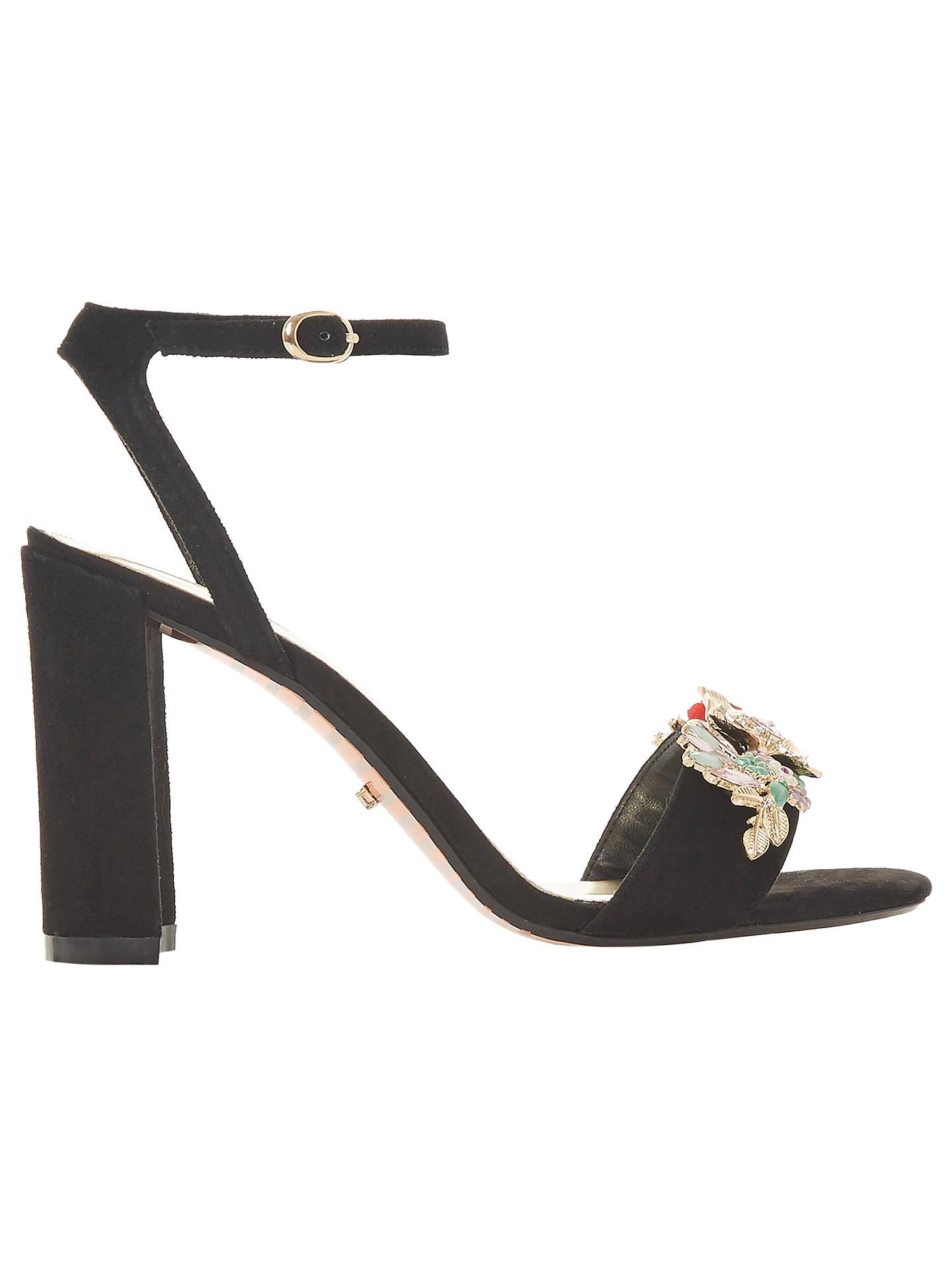 99b032dd16 Buy Dune Moretto Embellished Block Heel Sandals, Black, 3 Online at  johnlewis.com ...