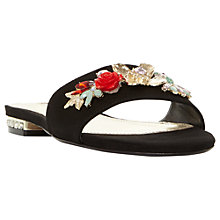 Buy Dune Navaro Flower Slider Sandals, Black Online at johnlewis.com