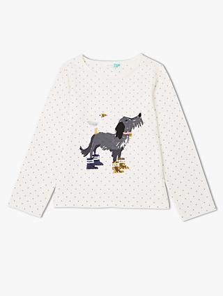acc35159b John Lewis   Partners Girls  Dog Graphic Print T-Shirt
