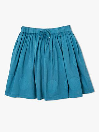 John Lewis & Partners Girls' Spot Skirt, Blue