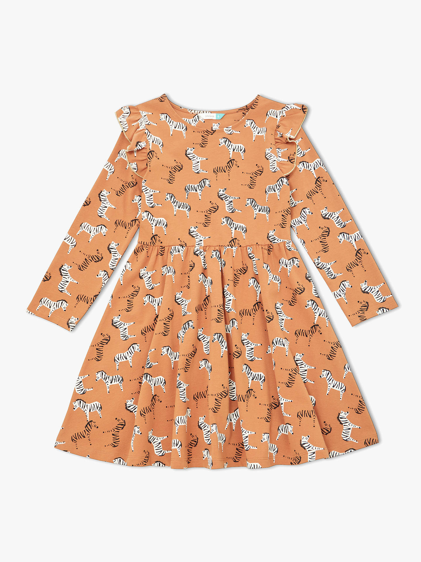 d40c46f8ee32c John Lewis & Partners Girls' Zebra Print Dress at John Lewis & Partners