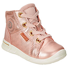 Buy ECCO First Bootie Infant Shoes, Rose Gold Online at johnlewis.com