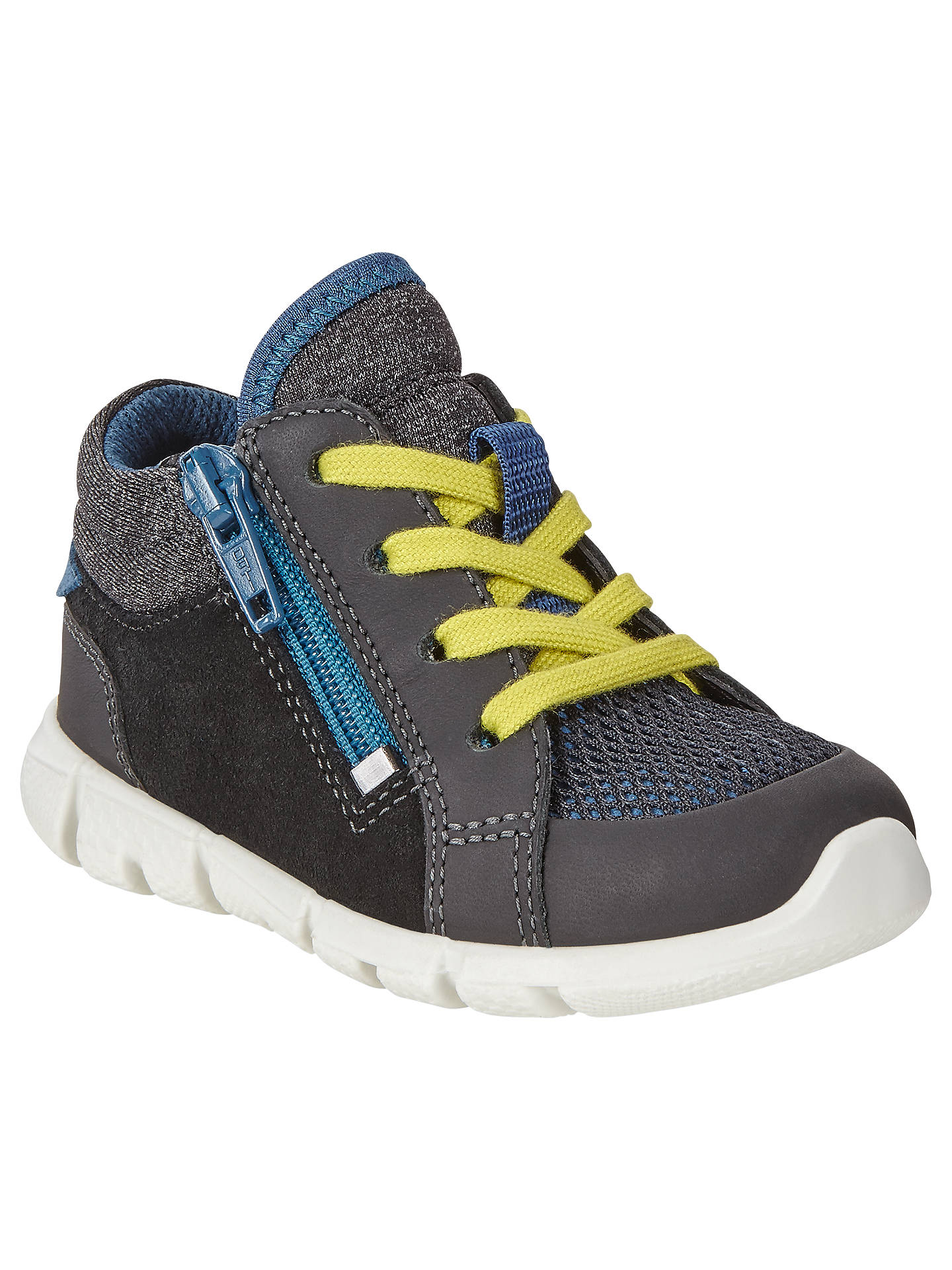ECCO Children's Leather Lace and Zip Intrinsic Mini Shoes