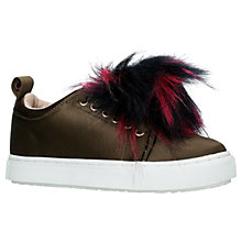 Buy Mini Miss KG Children's Pomtastic Trainers, Khaki Online at johnlewis.com