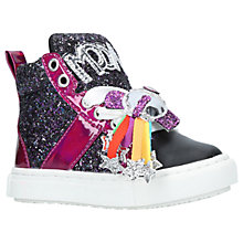 Buy Mini Miss KG Children's Moonwalk Trainers, Black Online at johnlewis.com