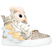 Buy Mini Miss KG Twit-Twoo Trainers, Gold Online at johnlewis.com
