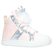 Buy Mini Miss KG Princess Crown Hi-Top Trainers, Pale Pink Online at johnlewis.com