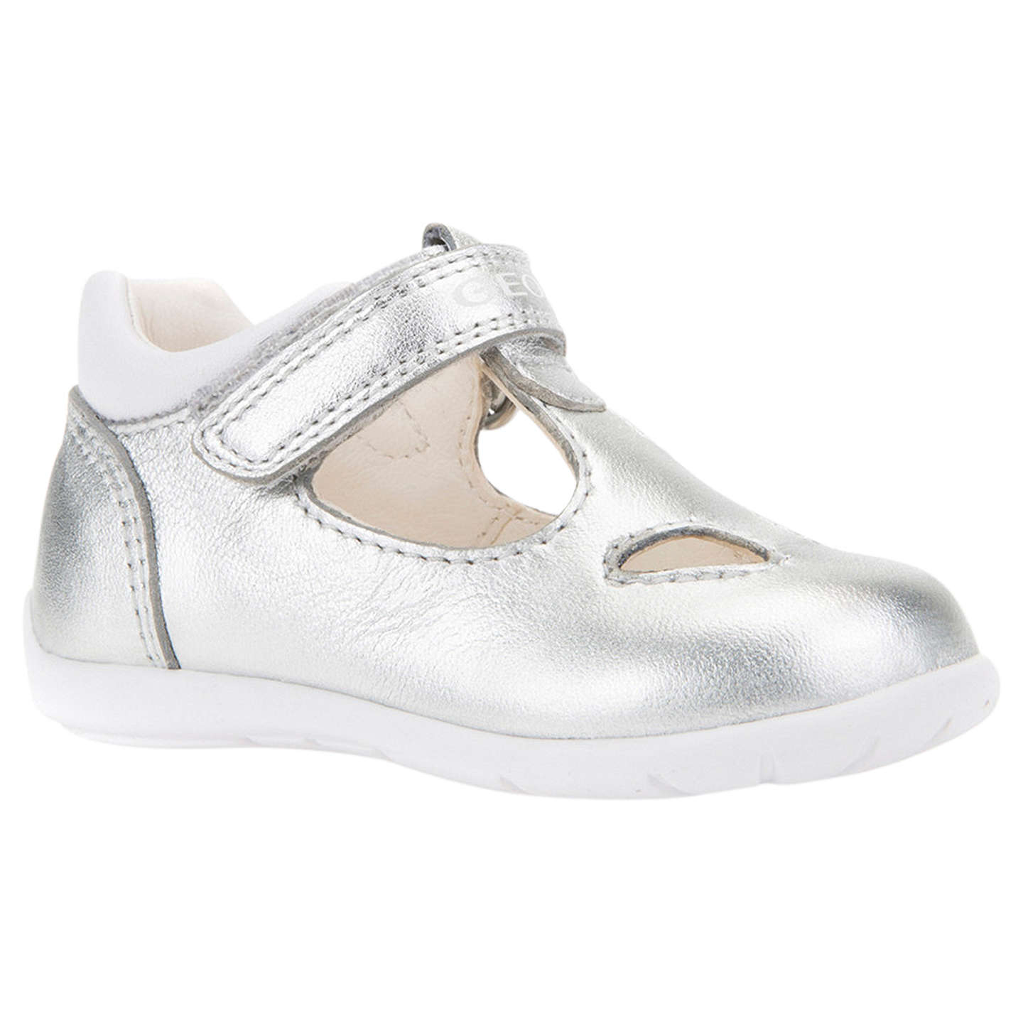 Geox Children s Kaytan Riptape Mary Jane First Shoes Silver at John