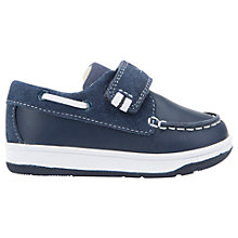 Buy Geox Children's B Flick Boat Riptape Shoes, Navy Online at johnlewis.com
