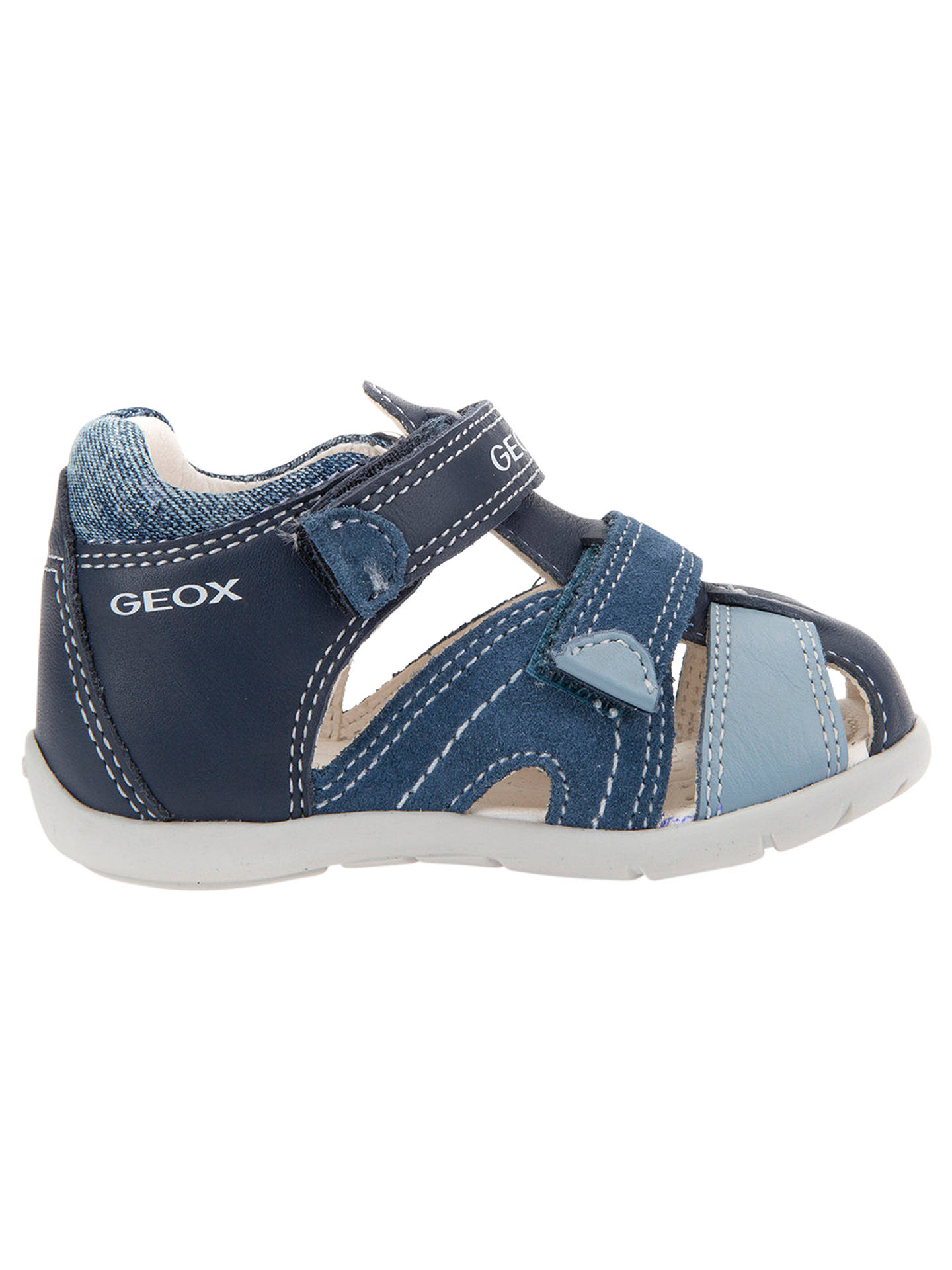 20857a8ac07e1 Buy Geox Children's B Kaytan Shoes, Navy/Grey, 18 Online at johnlewis.