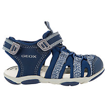 Buy Geox Children's Agasim B Sandals, Navy/Grey Online at johnlewis.com