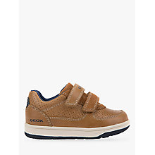 Buy Geox Children's New Flick Casual Riptape Shoes, Caramel Online at johnlewis.com